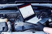 istock Mechanic is repairing vehicle at car service station 1167989217
