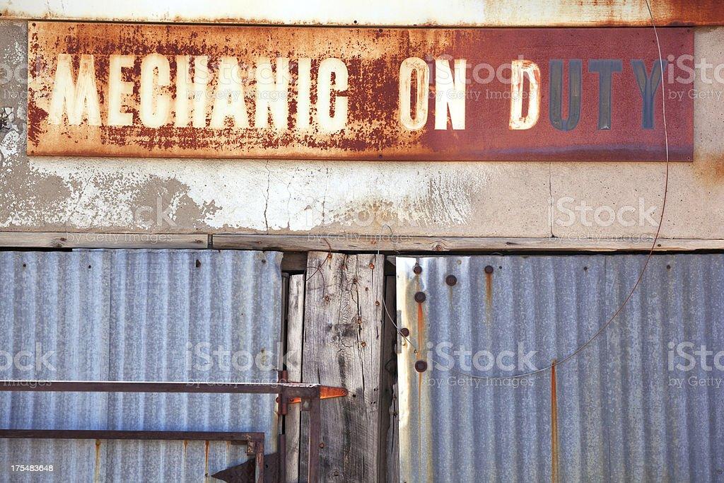 mechanic on duty royalty-free stock photo