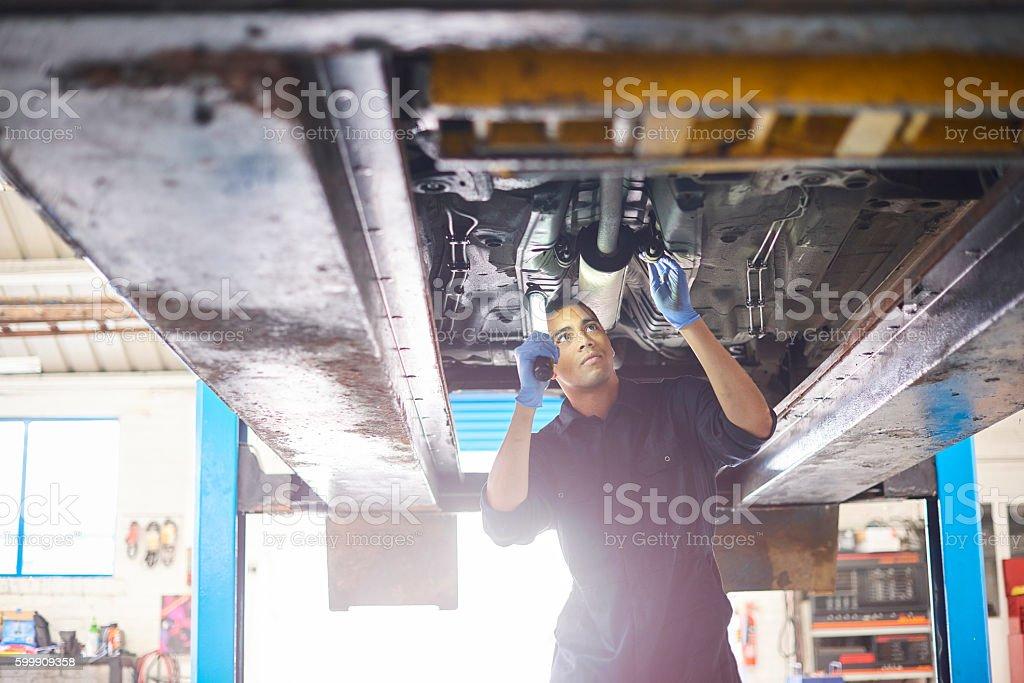 Mechanic stock photo