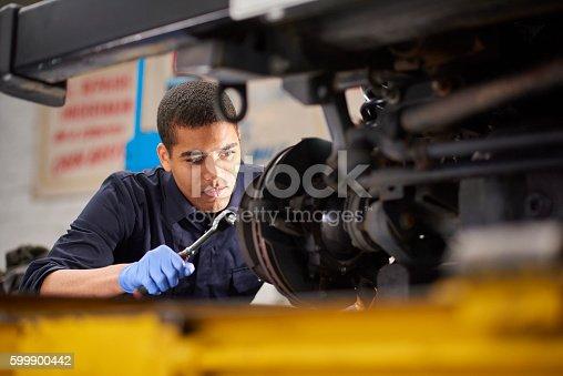 istock Mechanic repairs 599900442