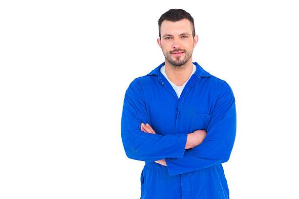 Mécanicien debout bras croisés - Photo