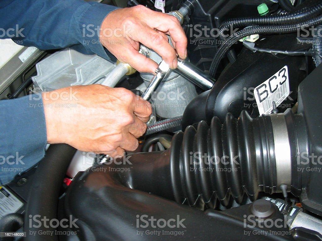 Mechanic - Under The Hood royalty-free stock photo