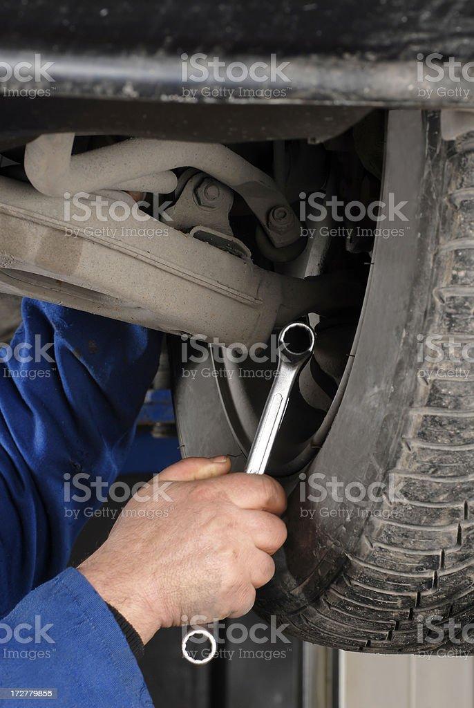 Mechanic working royalty-free stock photo