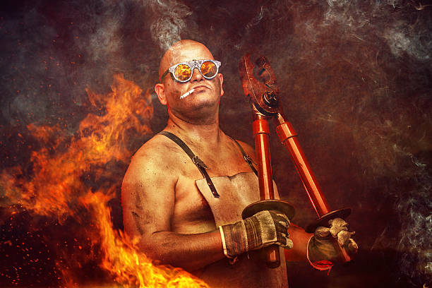 mechanic working with a huge plier - testosterone stock pictures, royalty-free photos & images
