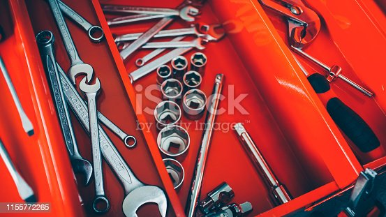 1155772265 istock photo mechanic workshop toolbox wrench instruments 1155772265