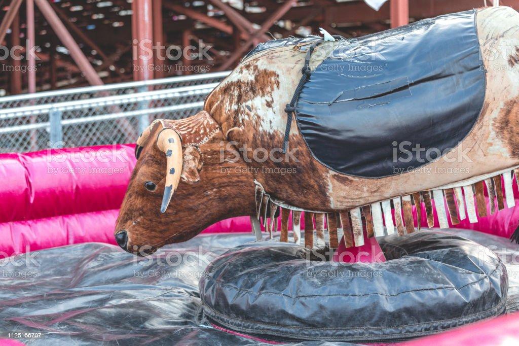 Mechanical Bull Bachelorette Party Pink Bumper - Royalty-free Amusement Park Ride Stock Photo