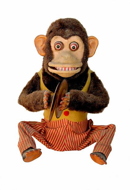 mechanical chimp - cimbaal stockfoto's en -beelden