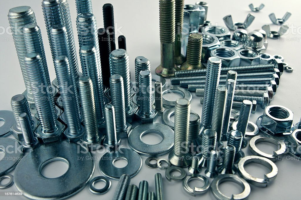 Mechanical city - constructional still life stock photo