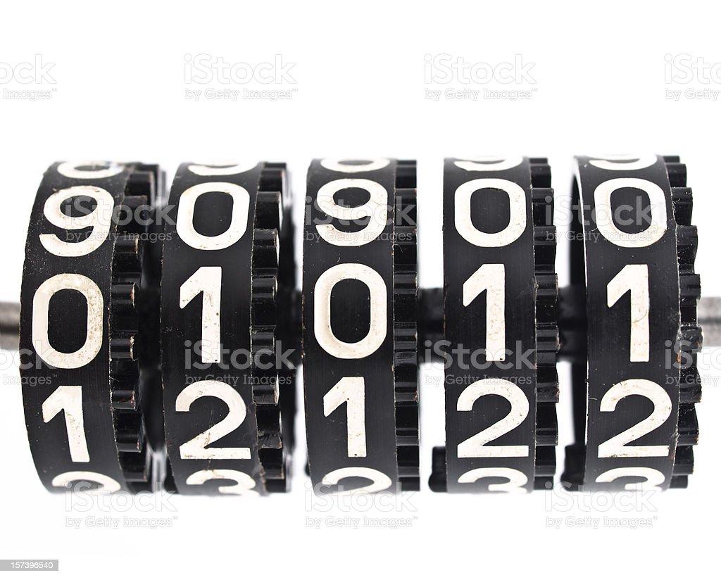 Mechanical counter stock photo