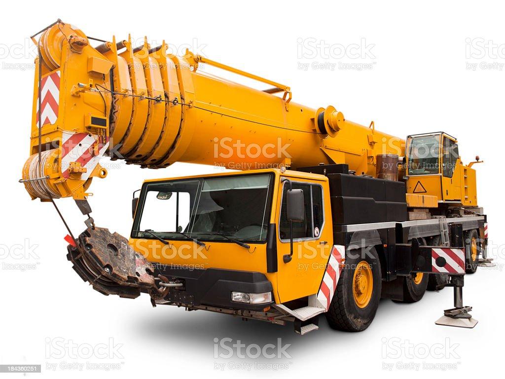Mechanical crane Liebherr. royalty-free stock photo