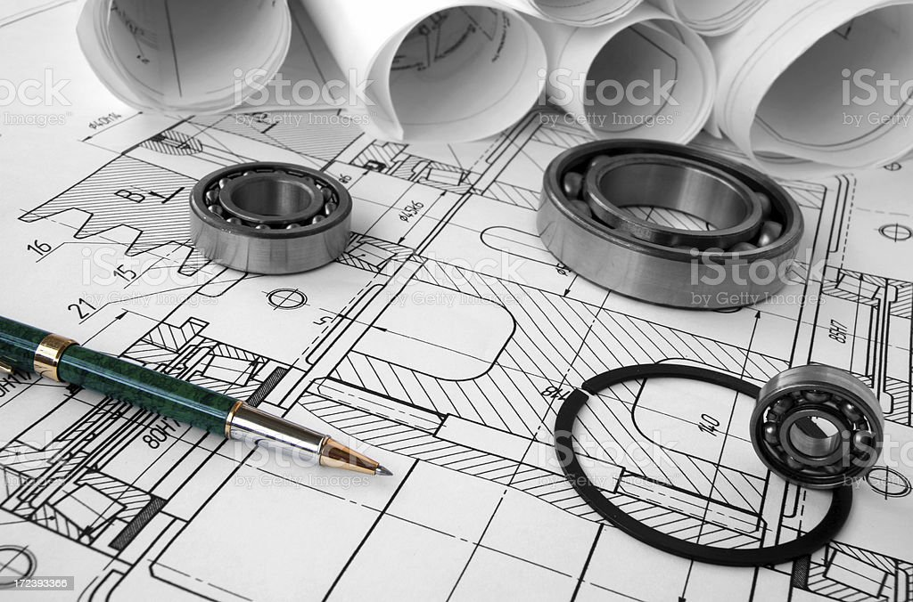 mechanical drawing royalty-free stock photo