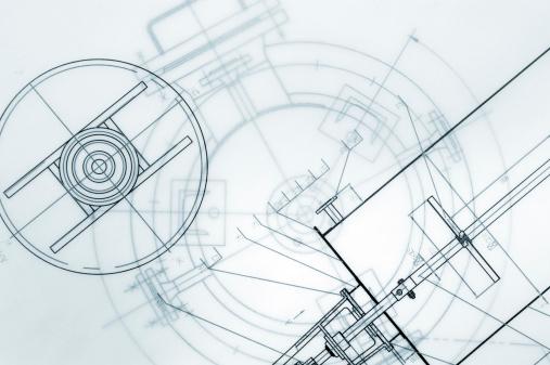 Maschinenbau Technische Zeichnung Stockfoto und mehr Bilder von Abstrakt