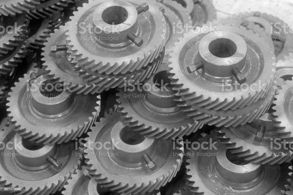 Mechanical equipment gear in a factory, closeup of pictures, north China stock photo