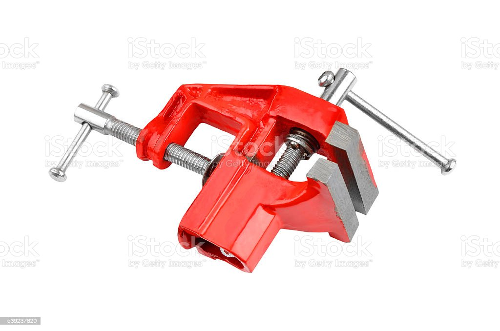 Mechanical hand vise clamp royalty-free stock photo