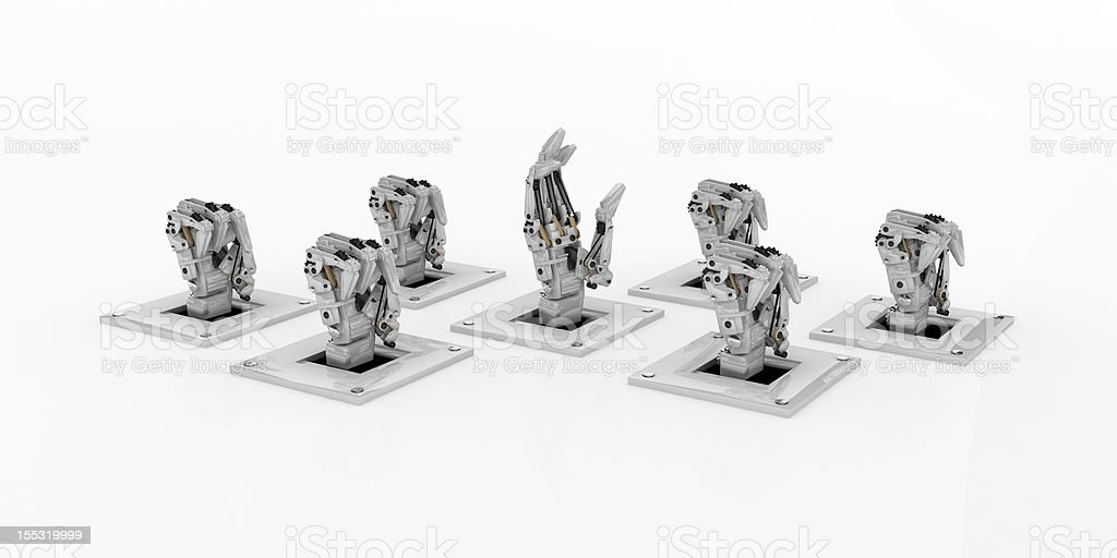 Mechanical Hands, Vote royalty-free stock photo