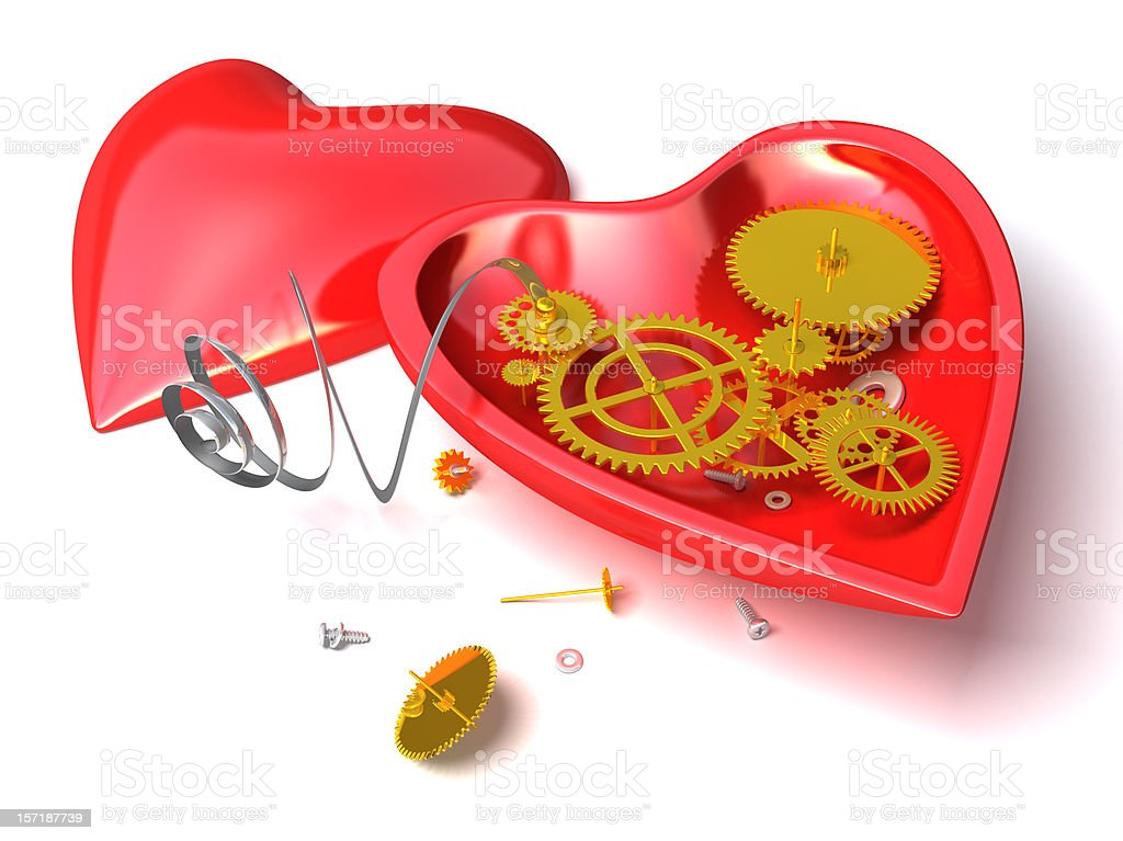 Mechanical heart royalty-free stock photo