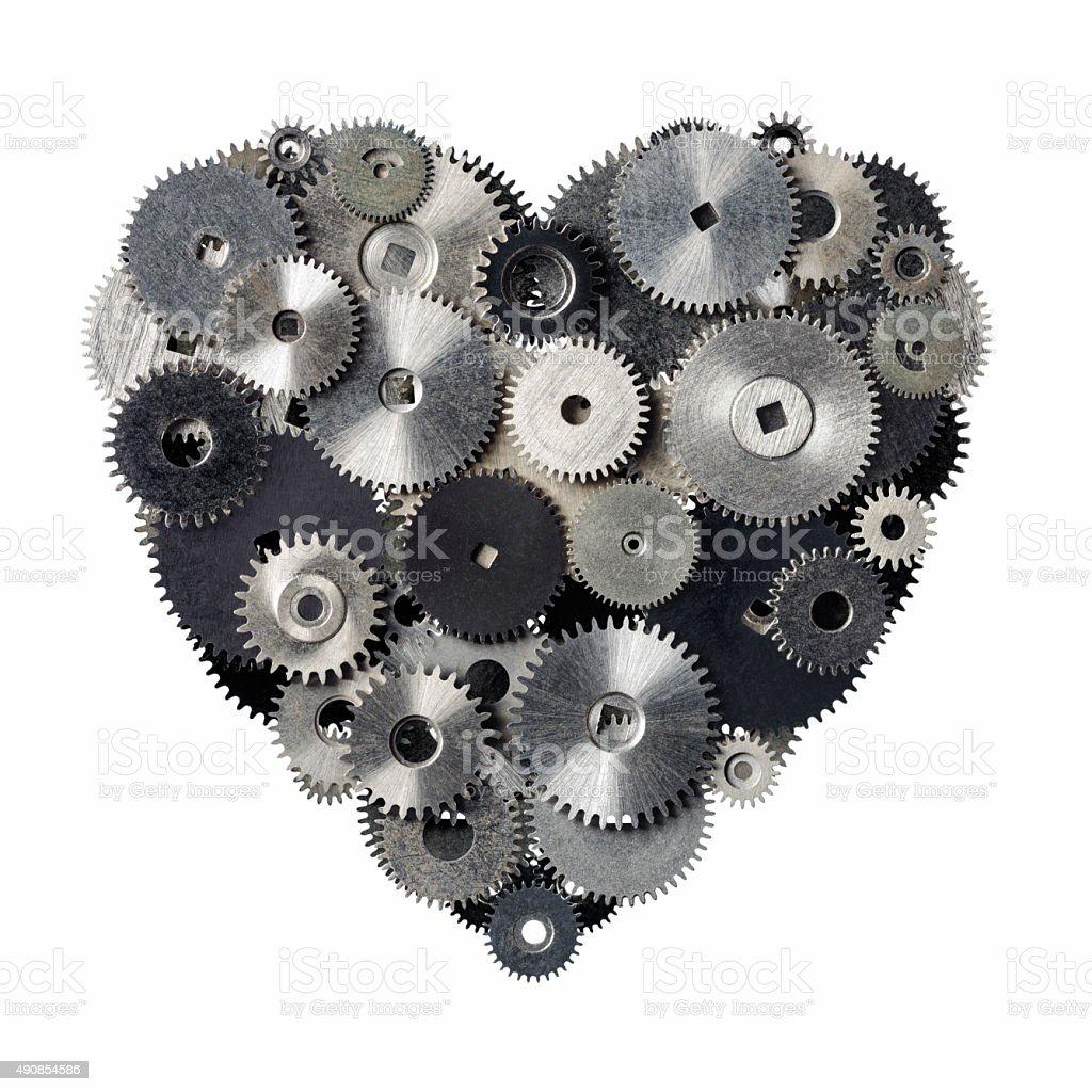 Mechanical heart royalty-free stock photo