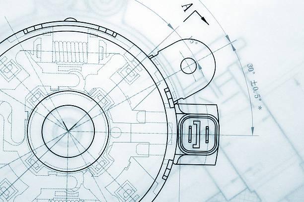 przemyśle mechanicznym projekt - inżynieria zdjęcia i obrazy z banku zdjęć
