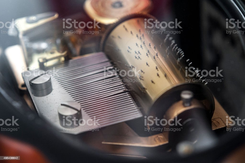 Mechanical Music Box stock photo