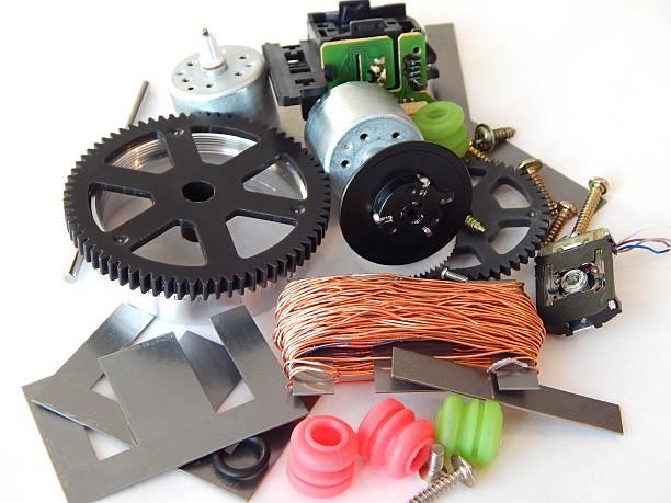 mechanischen teile disassembled cd empfänger. - lautsprecher test stock-fotos und bilder