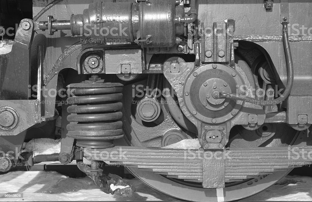 mechanical parts: wheel, spring, screw royalty-free stock photo