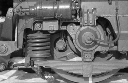 mechanical parts: wheel, spring, screw