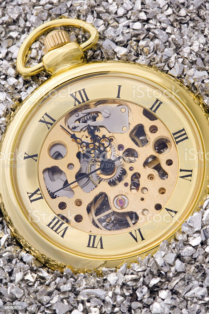 Mechanical pocket watch. royalty-free stock photo