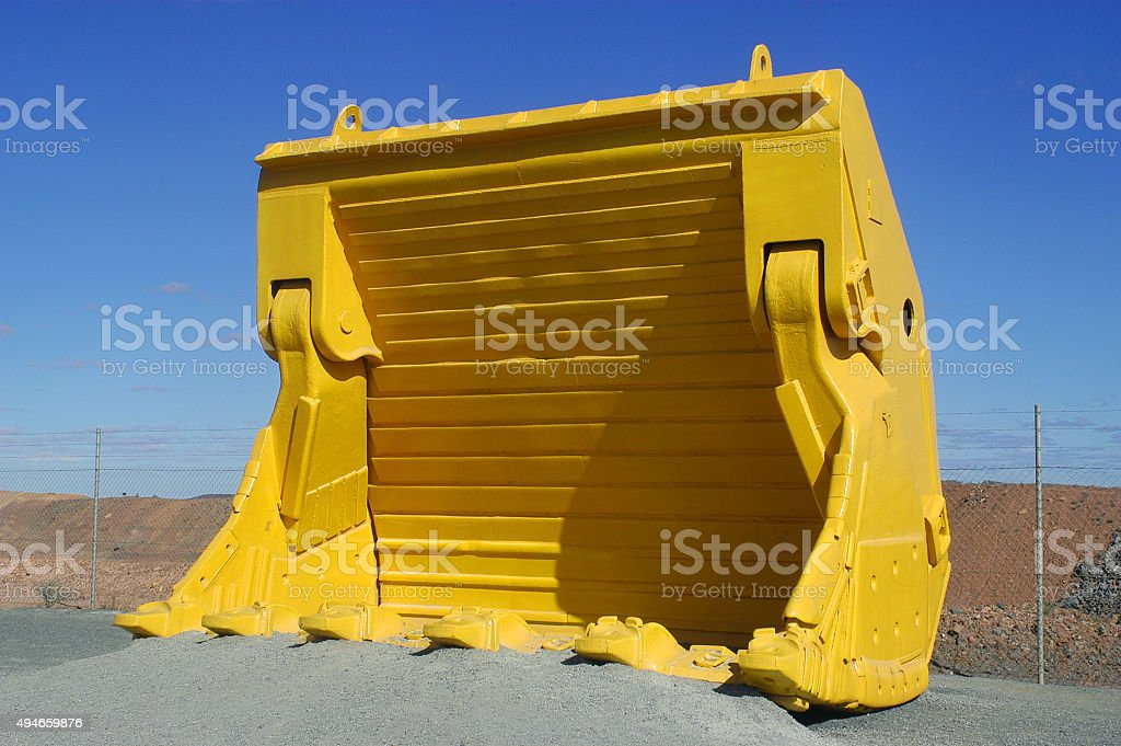 mechanical shovel of mine stock photo