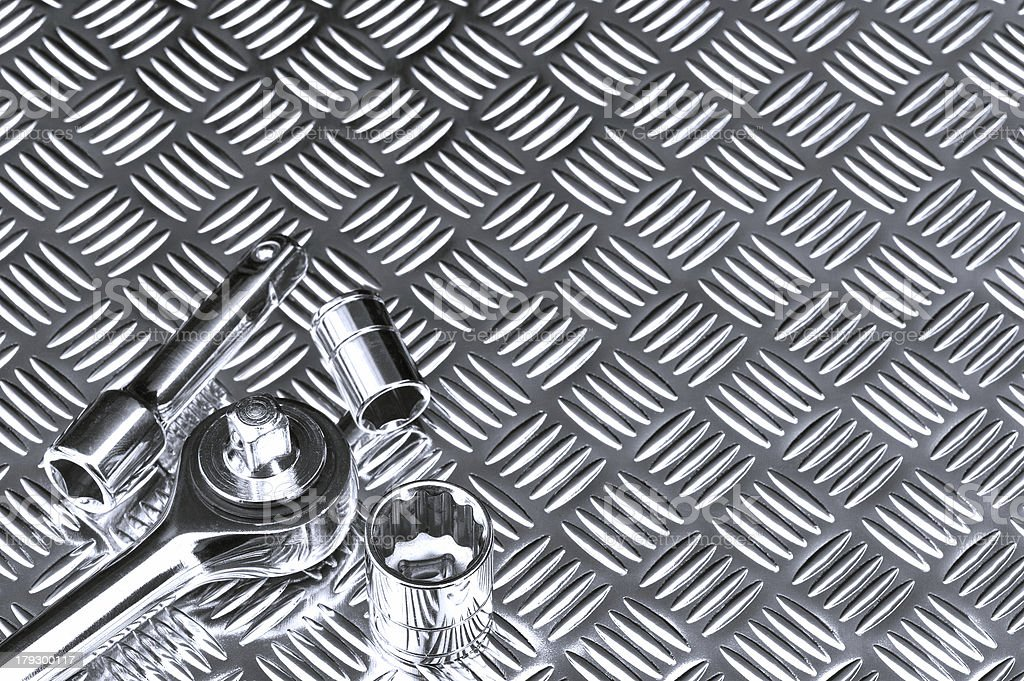 Mechanical socket background royalty-free stock photo