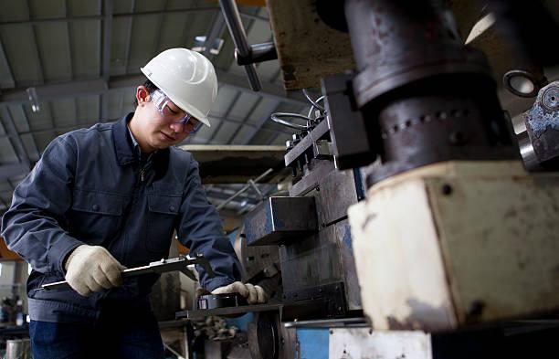 Maschinentechniker messen detail – Foto