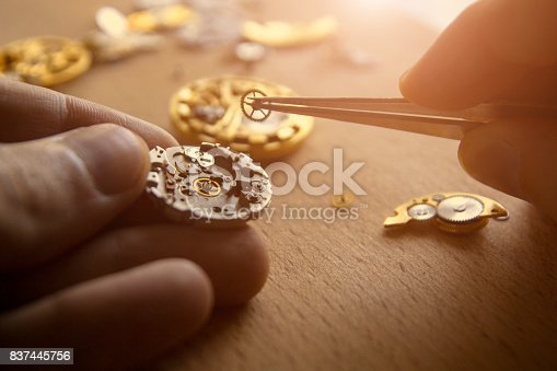 istock Mechanical watch repair 837445756