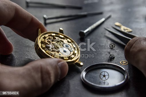 istock Mechanical watch repair 987334524