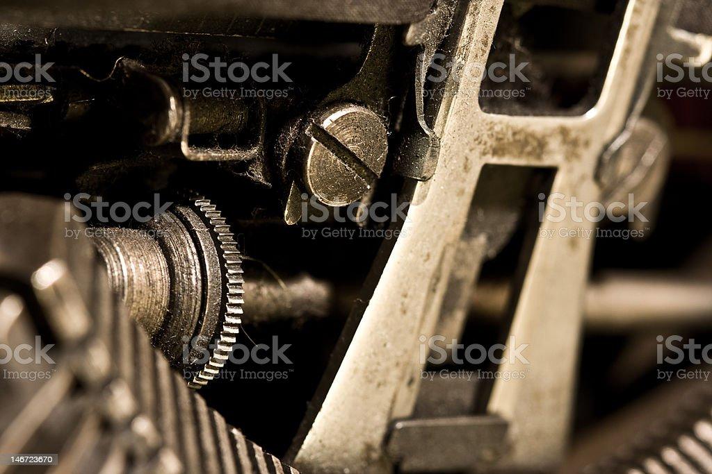 mechanism of typewriter royalty-free stock photo