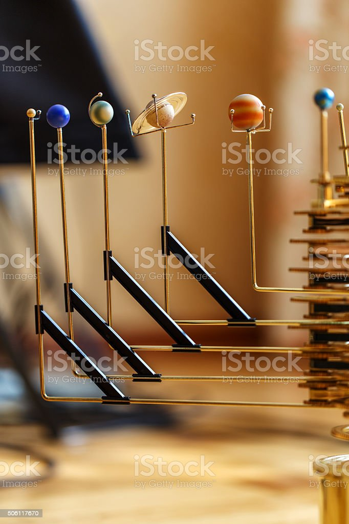 mechanism solar system planets stock photo