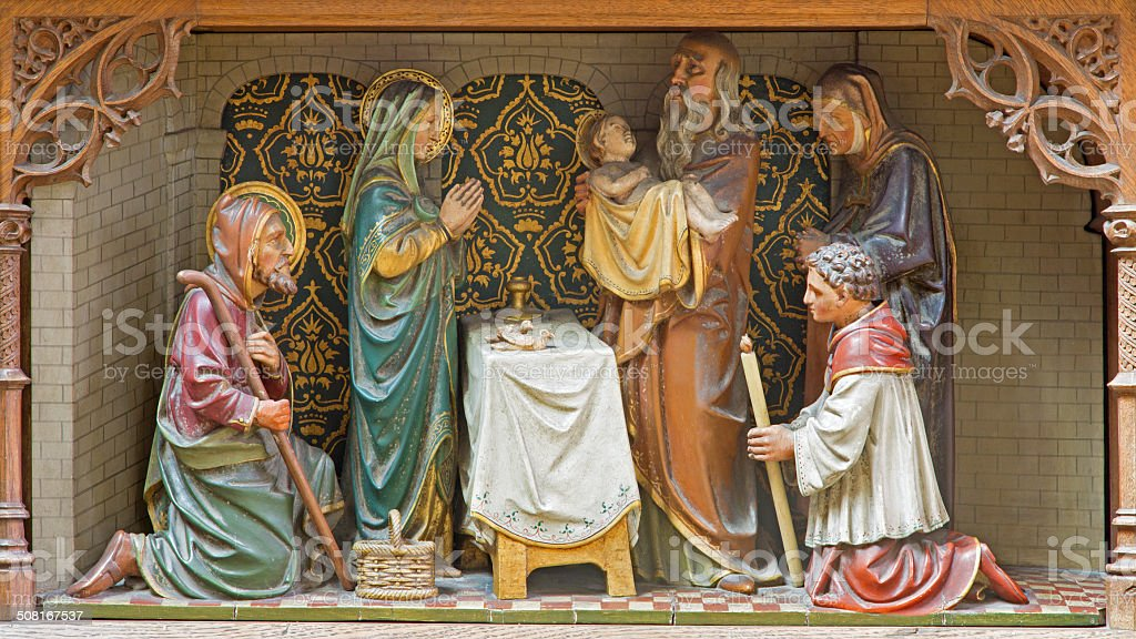 Mechelen - Presentation of Jesus in the Temple stock photo