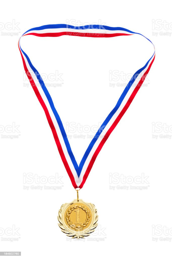 medal for first place stock photo