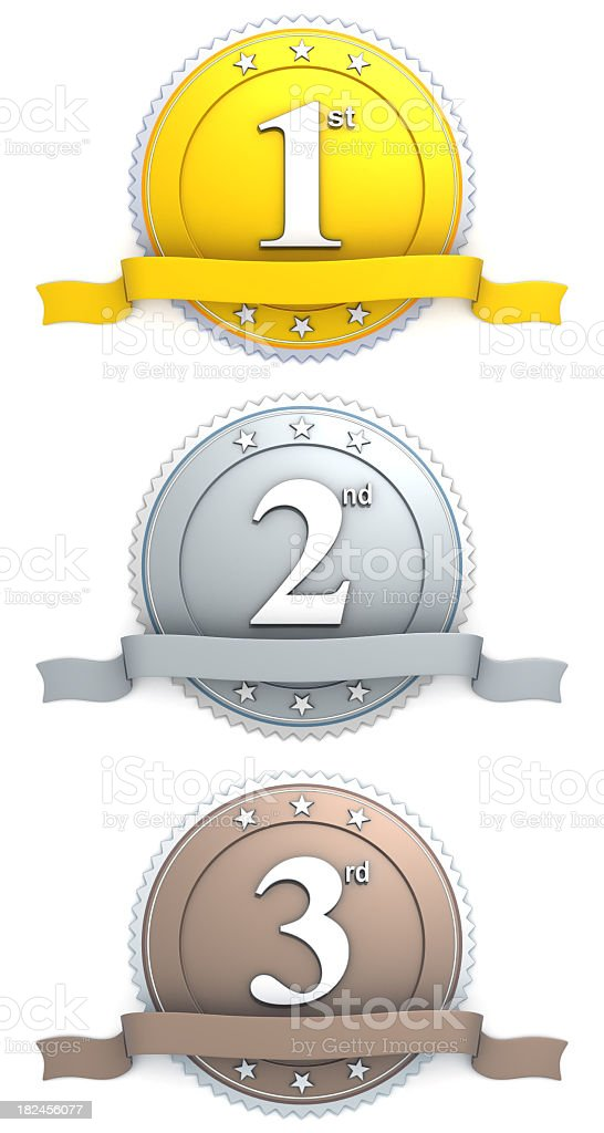 medal - gold silver bronze royalty-free stock photo