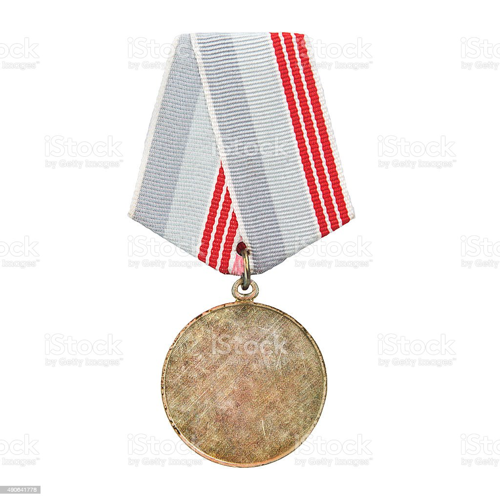medal isolated on white stock photo