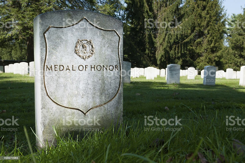 Medal of Honor Headstone stock photo