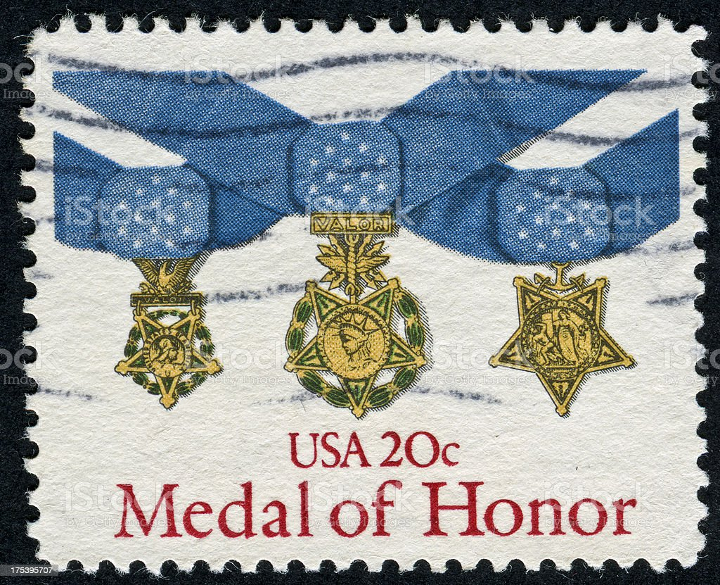 Medal Of Honor Stamp stock photo