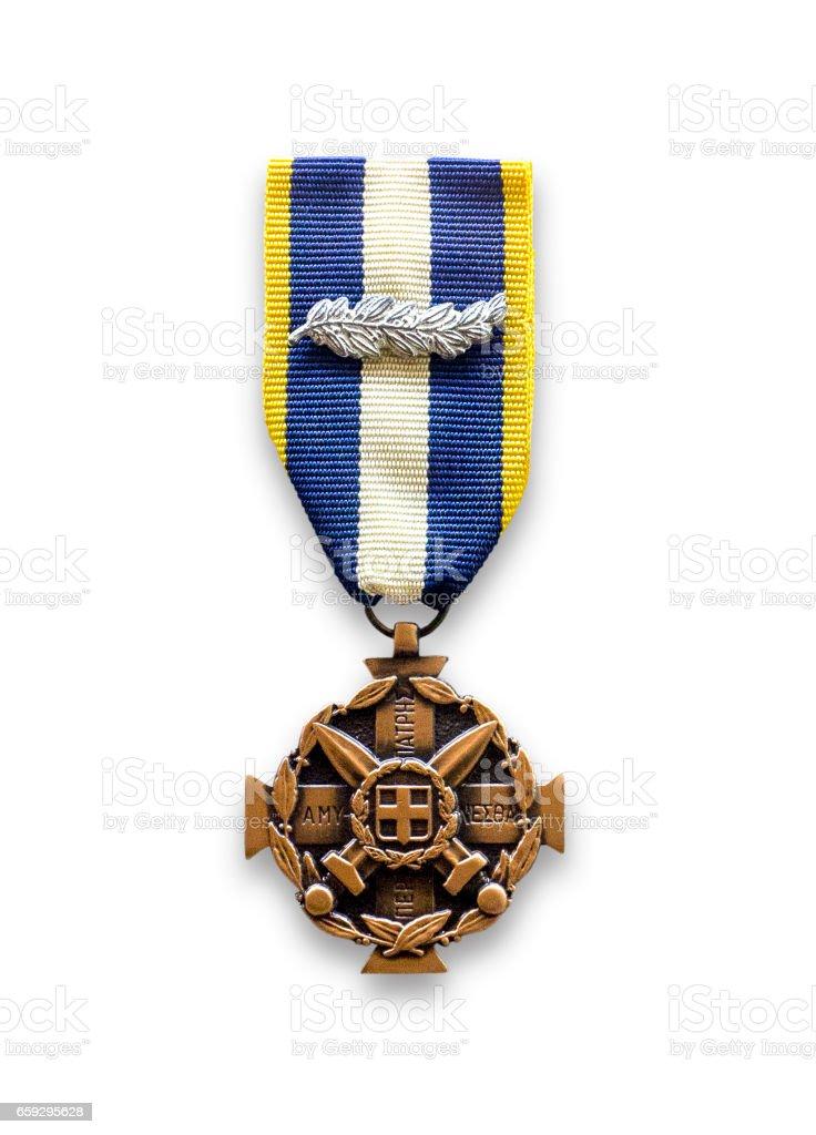 Medal of military merit stock photo