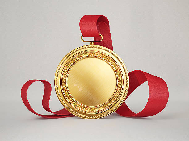 medal gold medal isolated on a grey background medal stock pictures, royalty-free photos & images