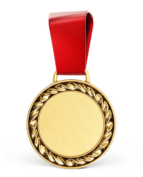 medal gold medal isolated on a white. 3d illustration medal stock pictures, royalty-free photos & images