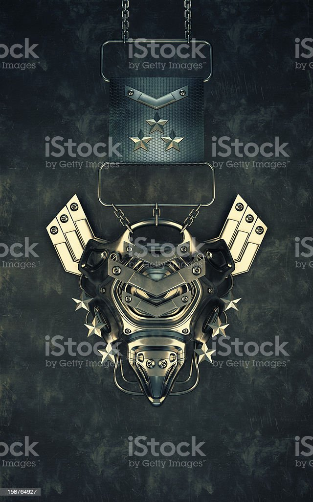 Medal 'Space Marines' stock photo