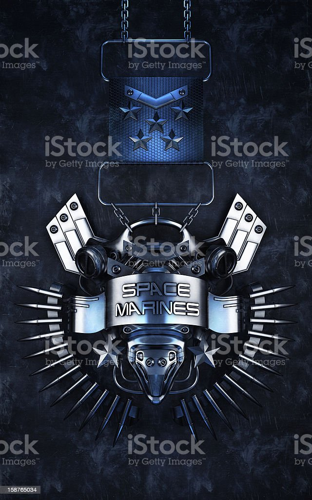 Medal 'Space Marines' royalty-free stock photo