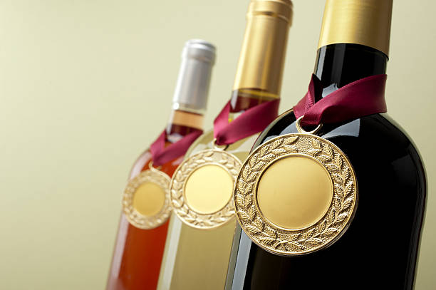 Medal Winning Wine stock photo