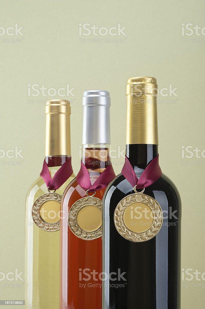 Medal Winning Wine stock photo