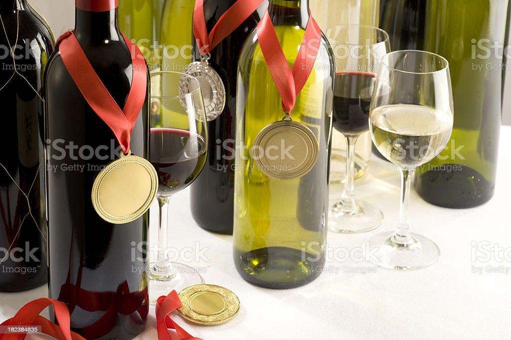 Medal Winning Wines stock photo