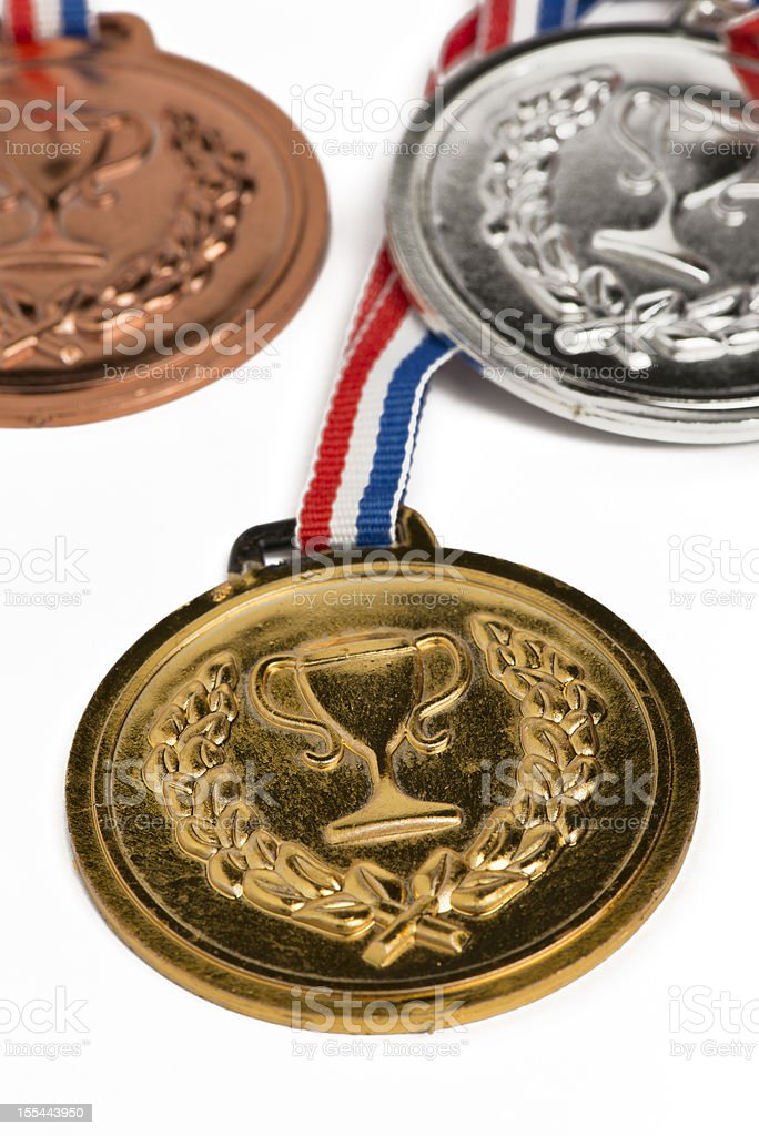 . medals isolated on white royalty-free stock photo