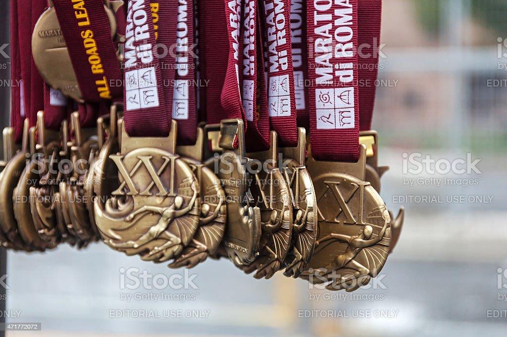 Die Rom-Marathon-Medaillen – Foto
